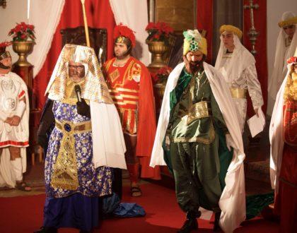 Celebración del Auto de  Reyes Magos en El Sauzal