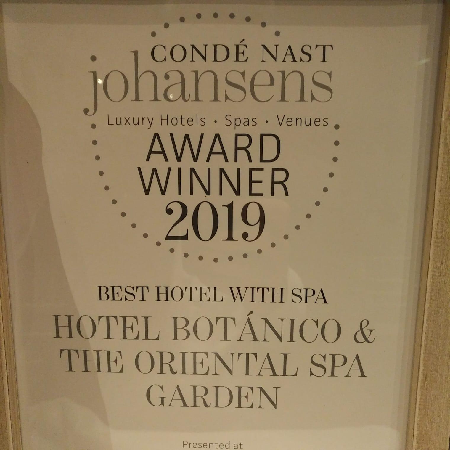 El Hotel Botánico & The Oriental Spa Garden consolida su liderazgo al recibir, por cuarta vez, el premio a mejor Hotel con Spa de Europa y del Mediterráneo